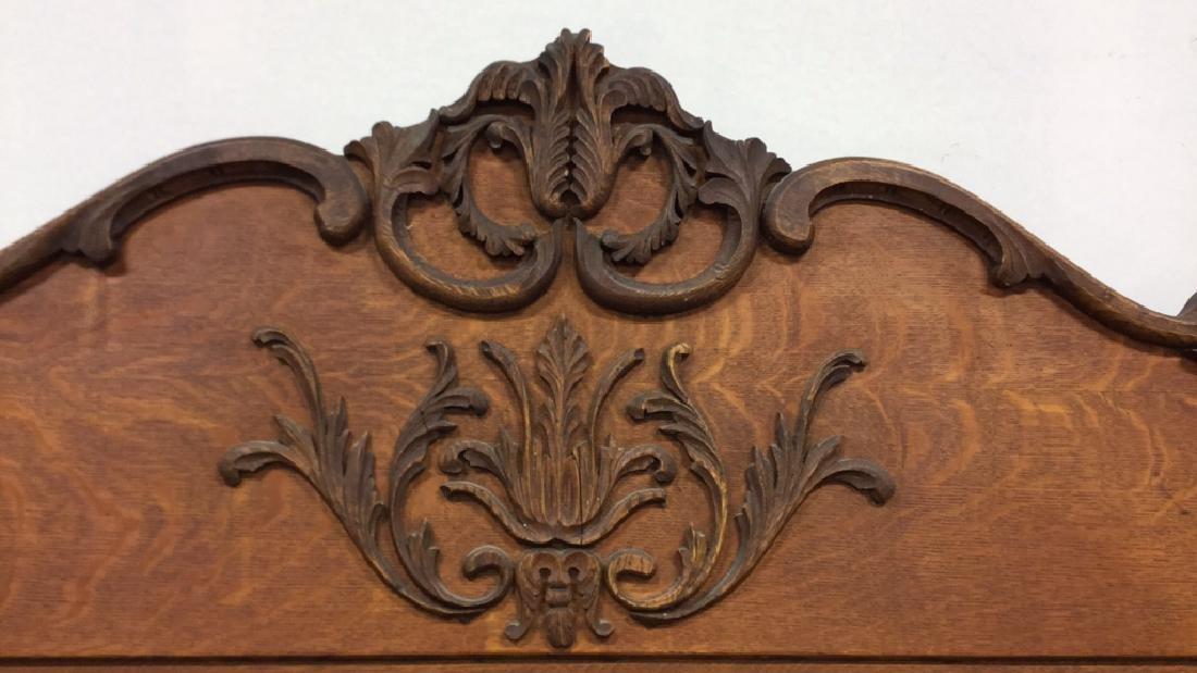Vintage Carved Wood Headboard - 2