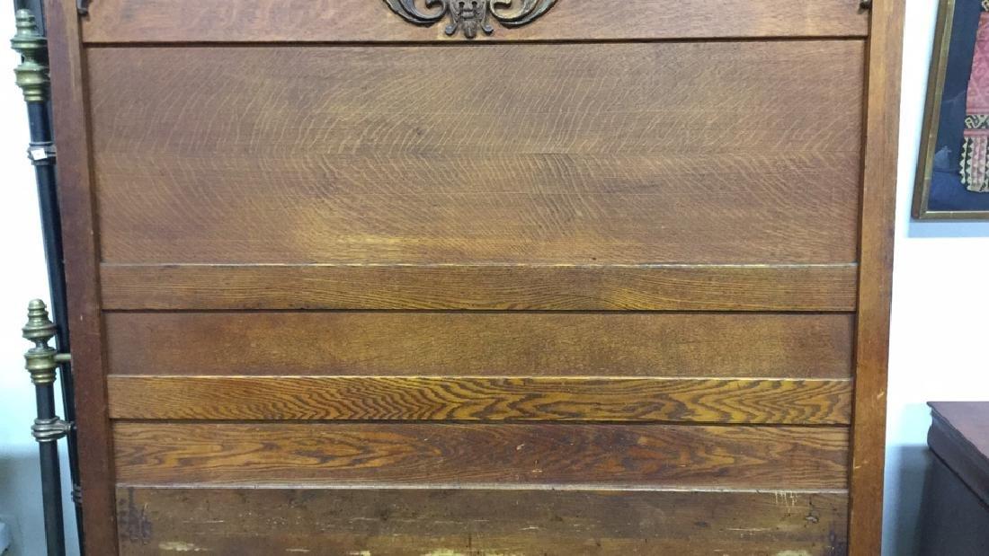 Vintage Carved Wood Headboard - 3