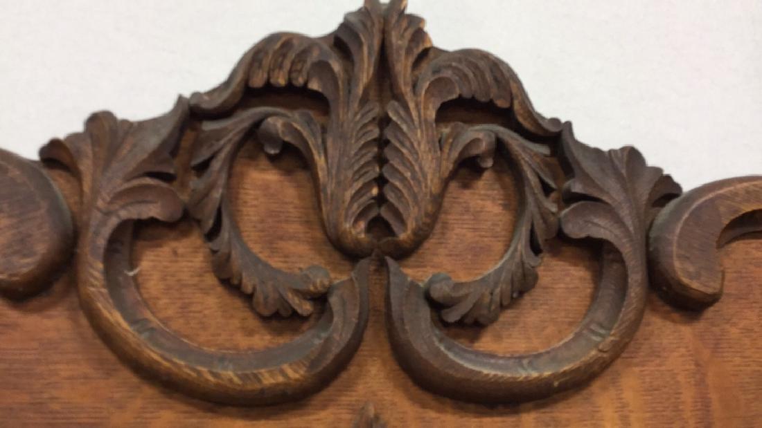 Vintage Carved Wood Headboard - 8