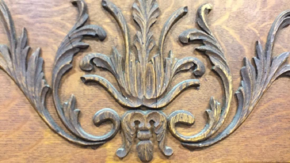 Vintage Carved Wood Headboard - 9