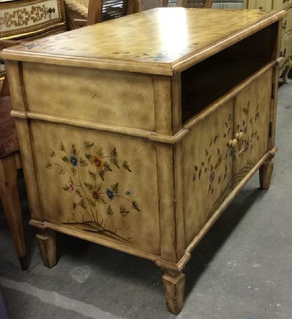Vintage Wooden Floral Detailed End Table - 2