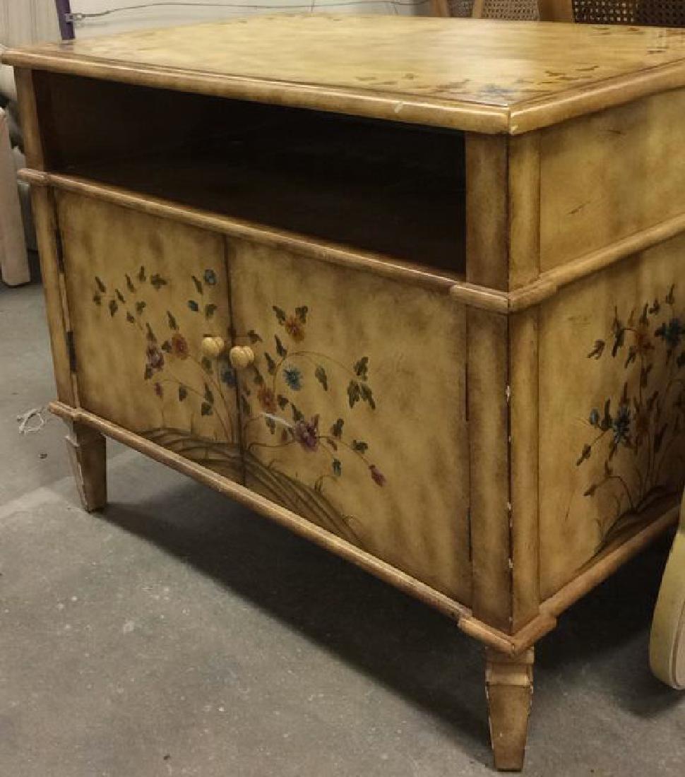 Vintage Wooden Floral Detailed End Table - 3