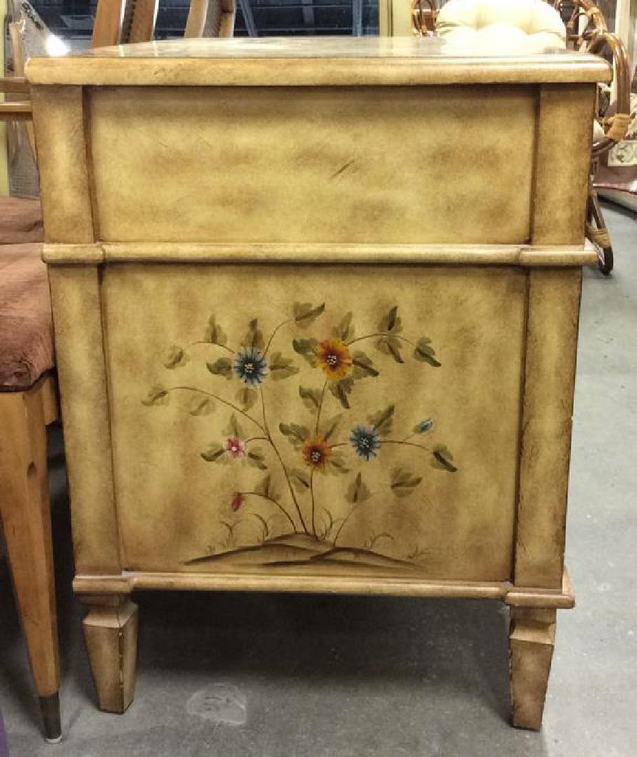 Vintage Wooden Floral Detailed End Table - 5