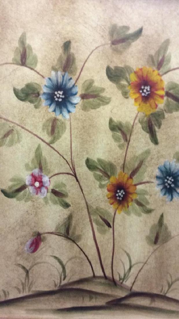 Vintage Wooden Floral Detailed End Table - 6