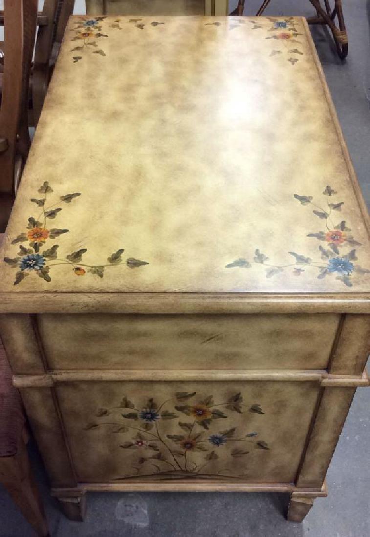 Vintage Wooden Floral Detailed End Table - 7