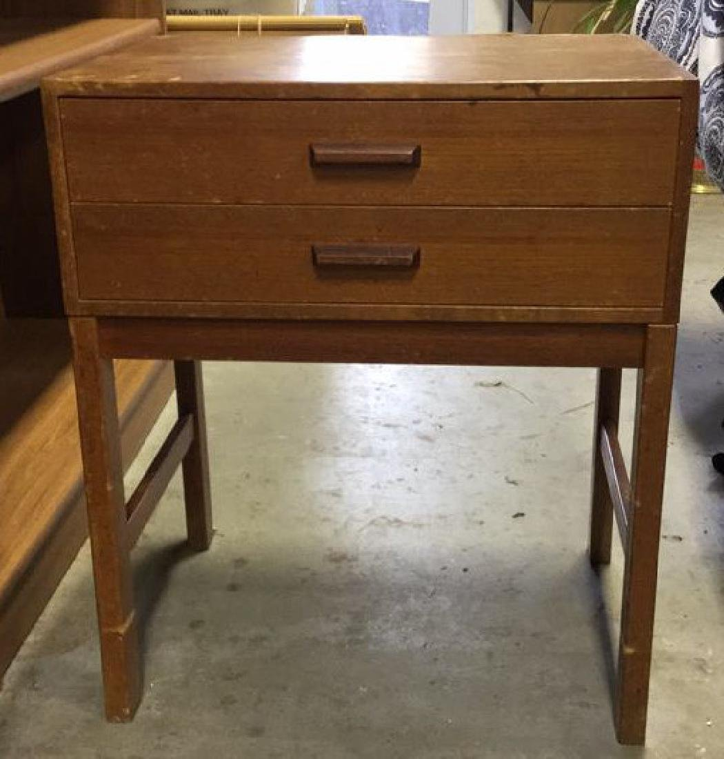 Vintage Mid Century Modern Wood Nightstand