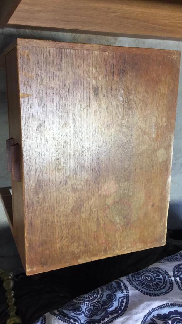 Vintage Mid Century Modern Wood Nightstand - 2