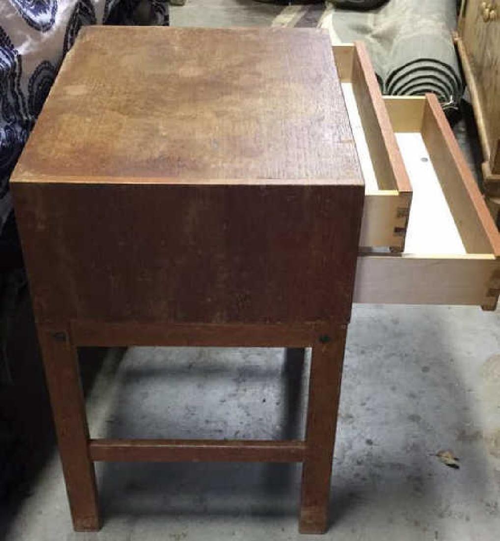 Vintage Mid Century Modern Wood Nightstand - 5
