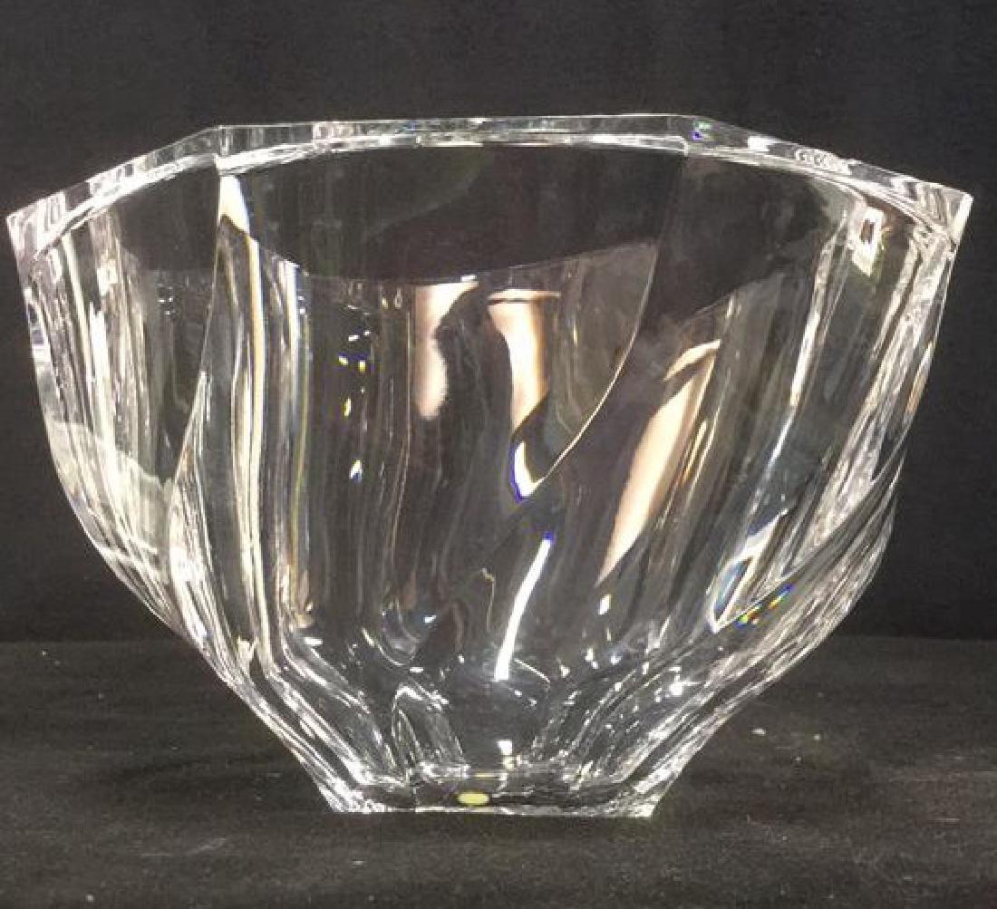 Orrefors Crystal Art Glass Bowl Vase - 7