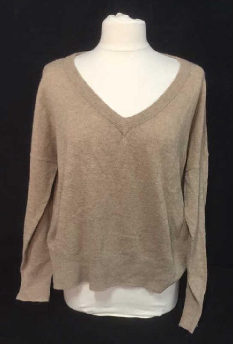 Minnie Rose Cashmere V Neck Sweater