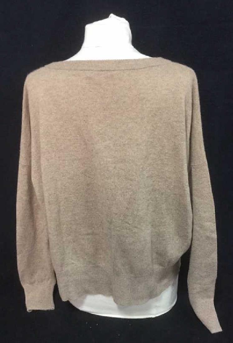 Minnie Rose Cashmere V Neck Sweater - 3