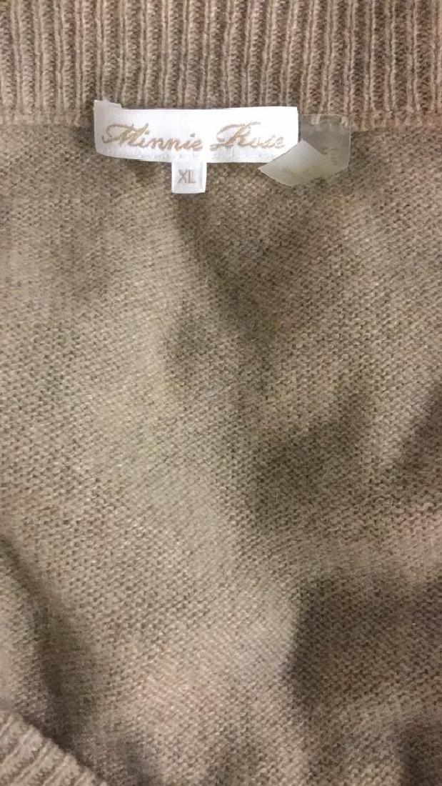 Minnie Rose Cashmere V Neck Sweater - 8
