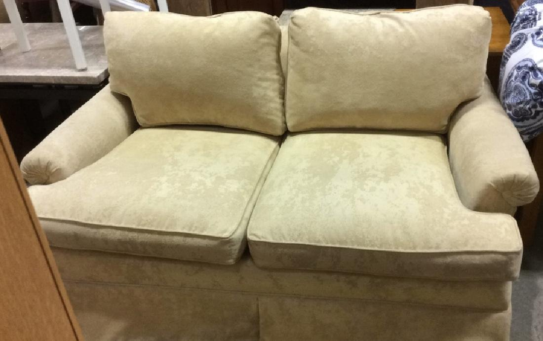 Pale Yellow Toned Textured Loveseat