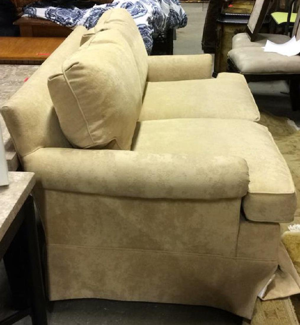 Pale Yellow Toned Textured Loveseat - 2