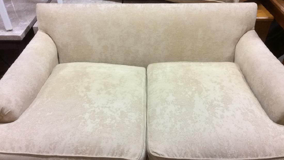 Pale Yellow Toned Textured Loveseat - 4
