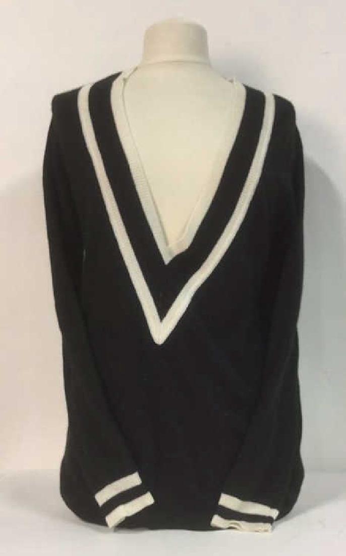 Minnie Rose Black w White Cashmere Sweater - 2