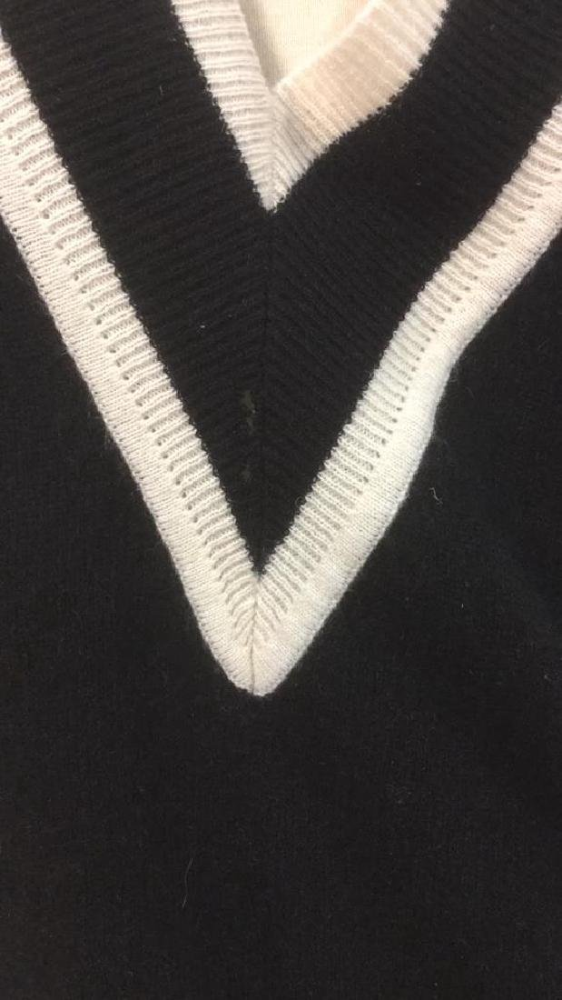 Minnie Rose Black w White Cashmere Sweater - 3