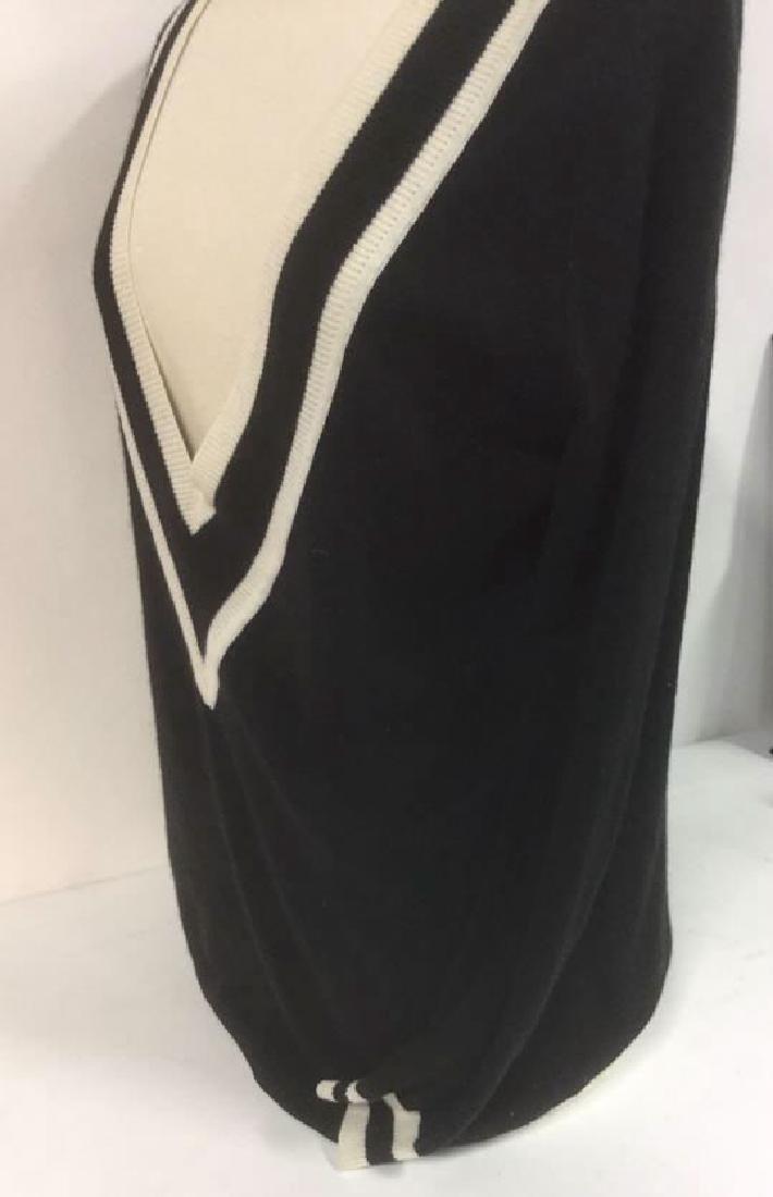 Minnie Rose Black w White Cashmere Sweater - 6