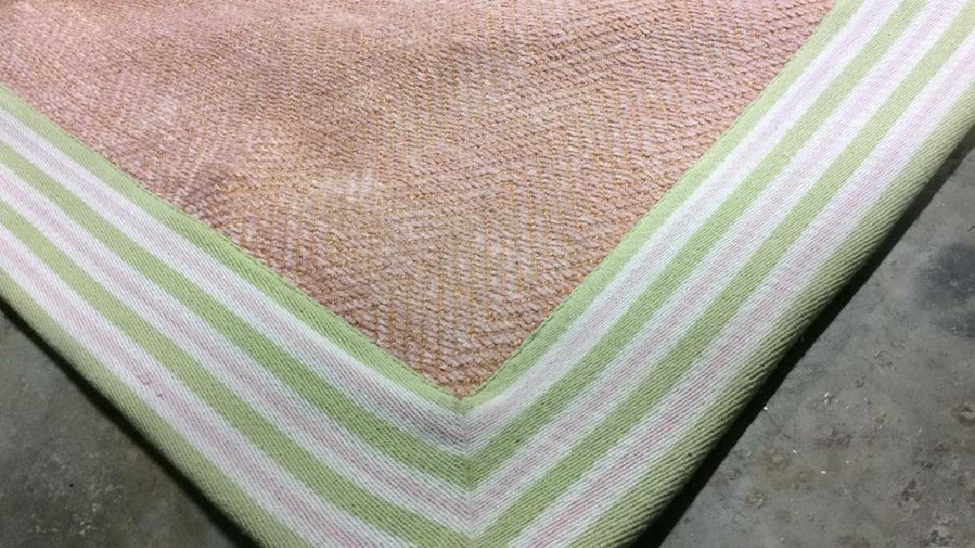 POTTERY BARN KIDS Pink & Green Toned Rug