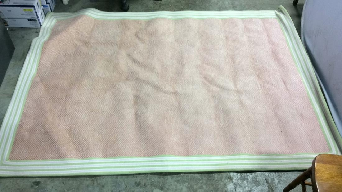 POTTERY BARN KIDS Pink & Green Toned Rug - 2