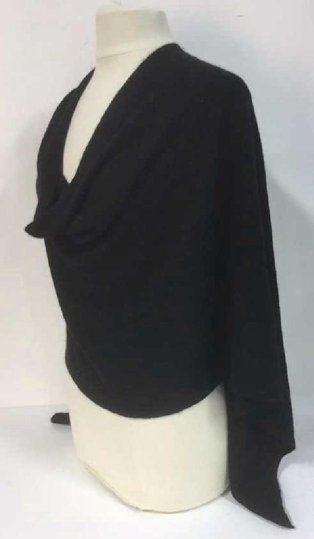 Minnie Rose Black Cashmere Poncho Topper Cape - 3