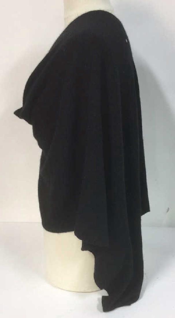 Minnie Rose Black Cashmere Poncho Topper Cape - 4