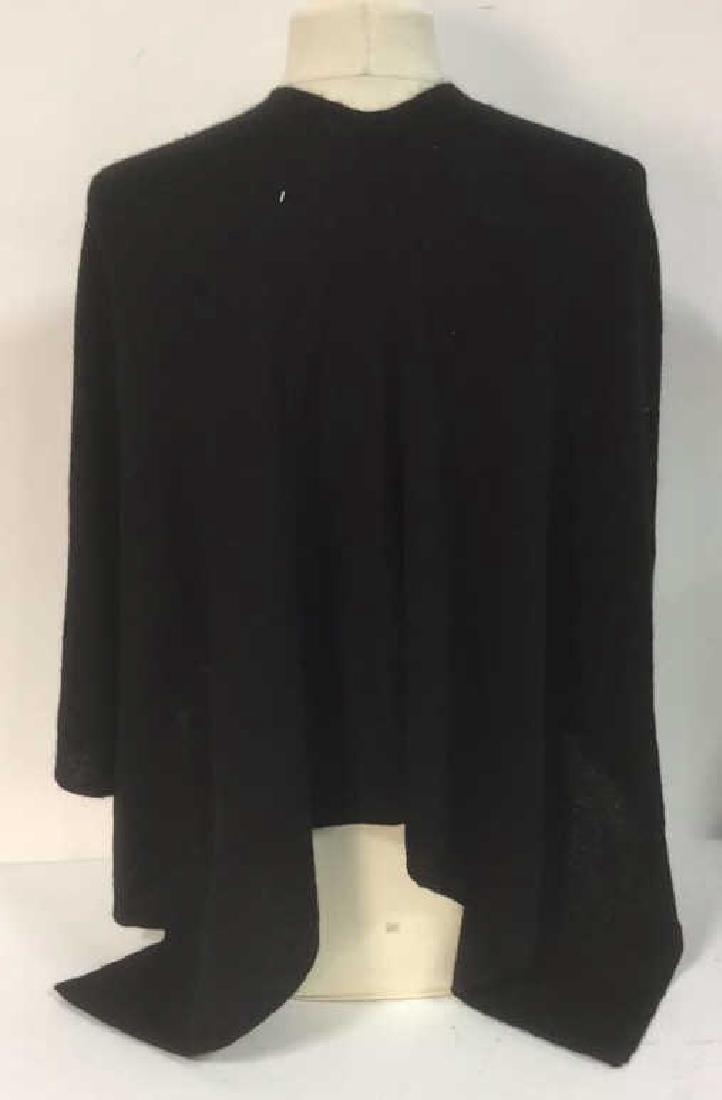 Minnie Rose Black Cashmere Poncho Topper Cape - 5