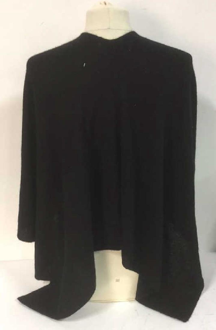 Minnie Rose Black Cashmere Poncho Topper Cape - 6