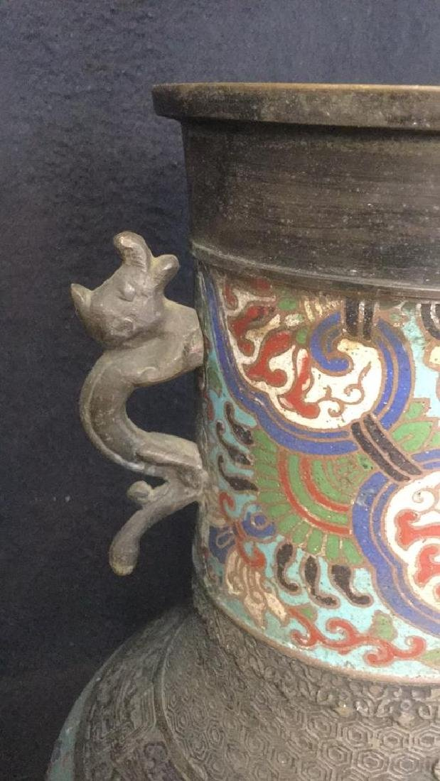 Vintage Possibly Antique Japanese Cloisonne Vase - 3