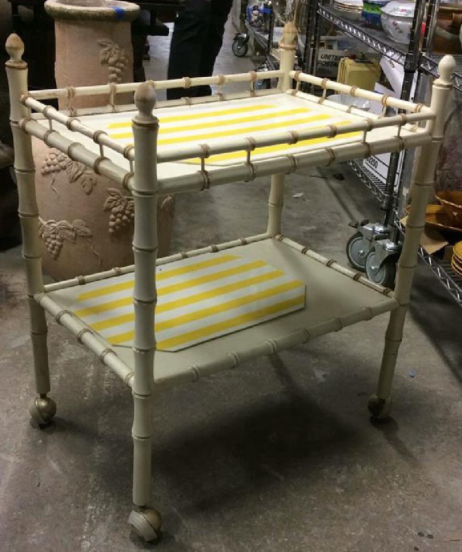 Vintage Bamboo Style Tea Cart