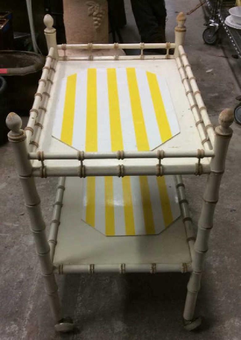 Vintage Bamboo Style Tea Cart - 8
