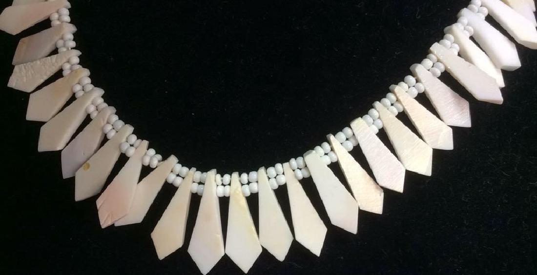Set Shell Necklace w Earrings - 2