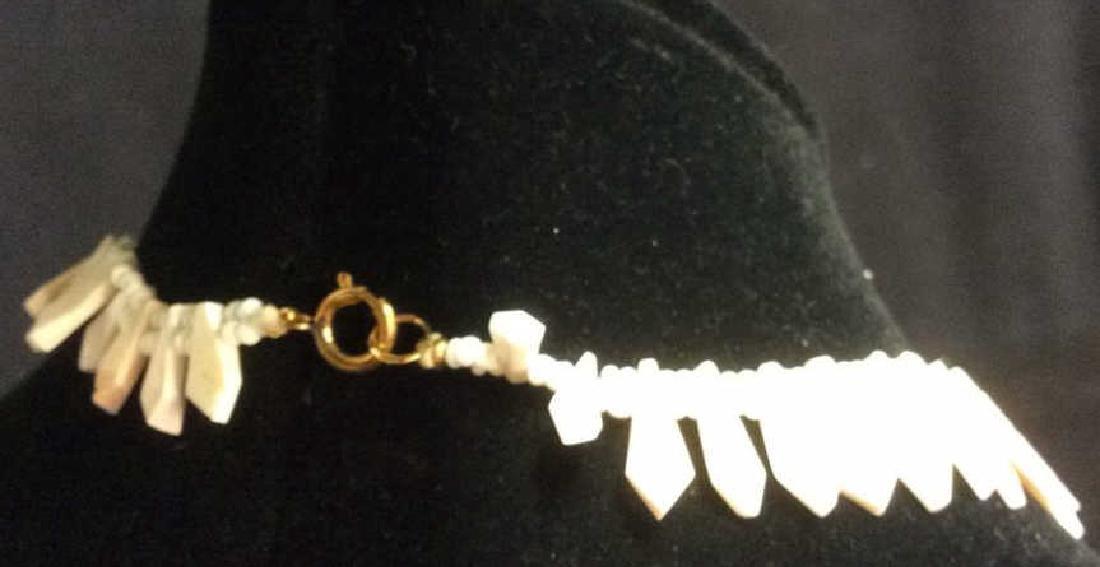 Set Shell Necklace w Earrings - 4