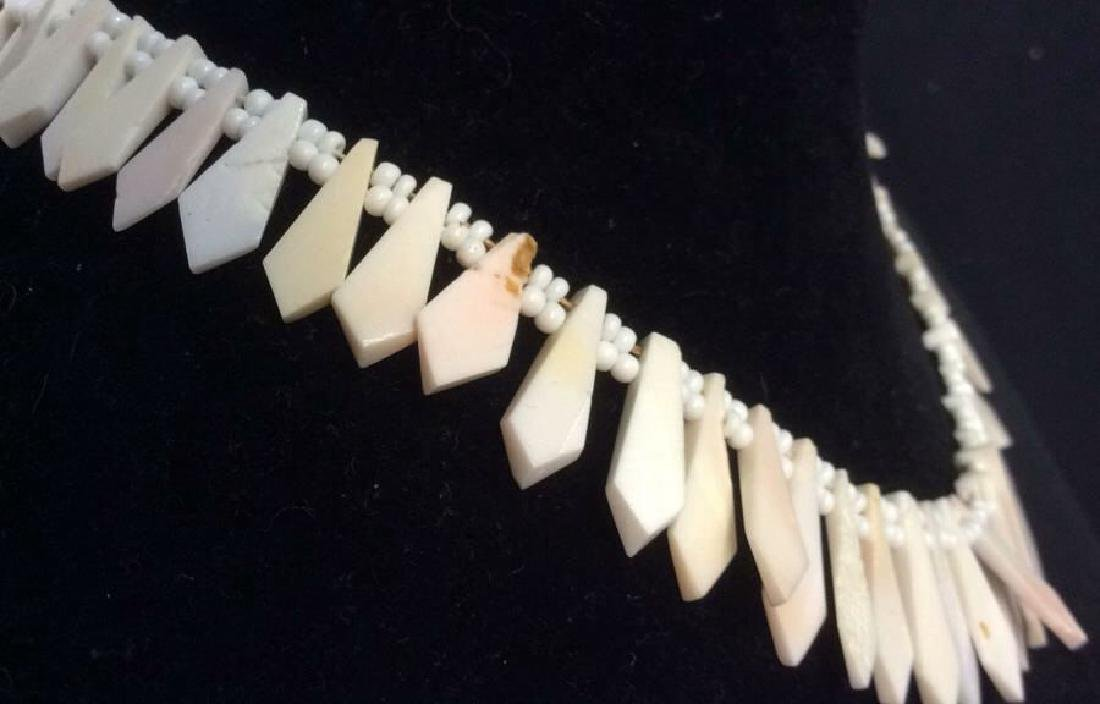Set Shell Necklace w Earrings - 5