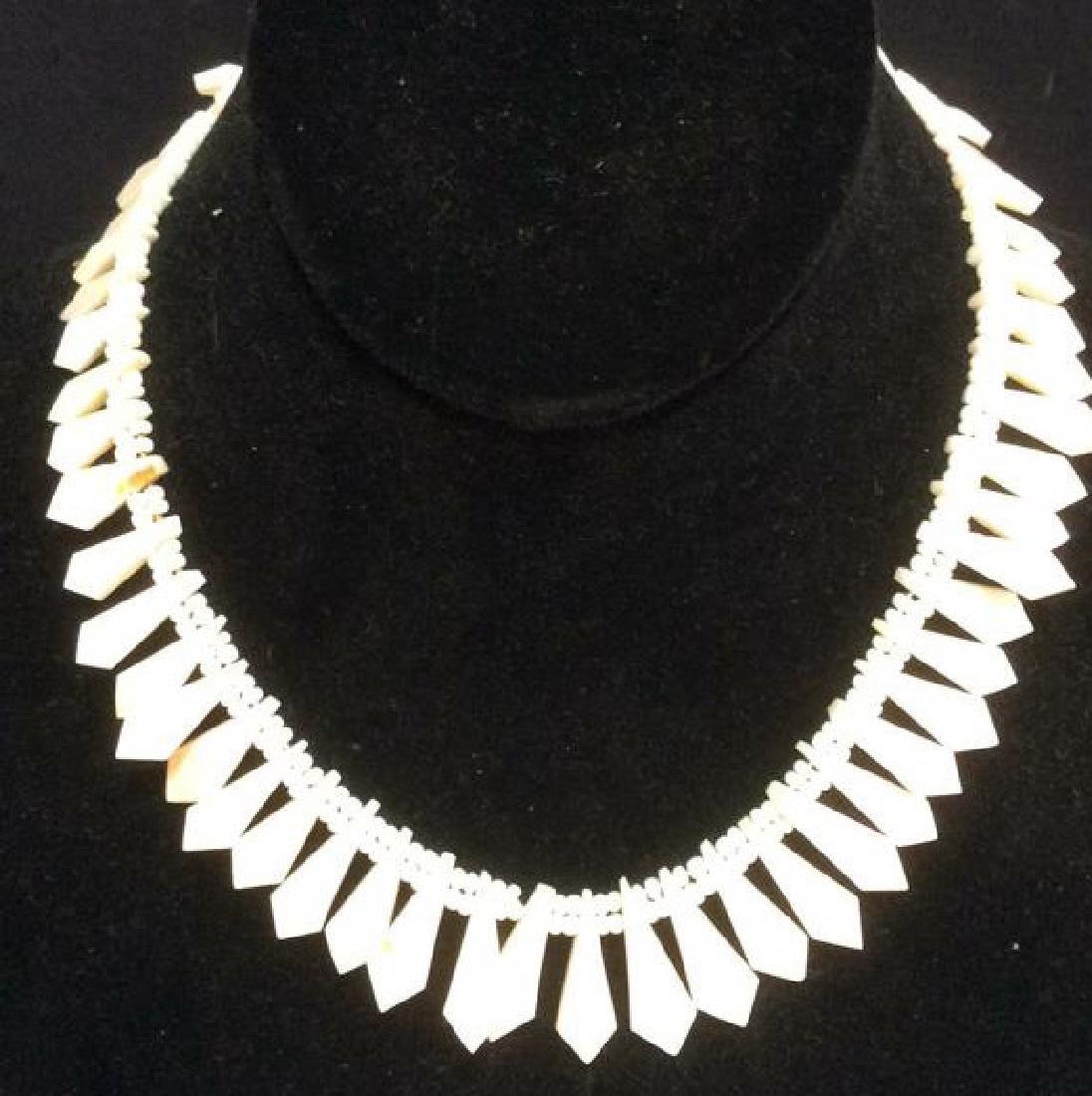Set Shell Necklace w Earrings - 7