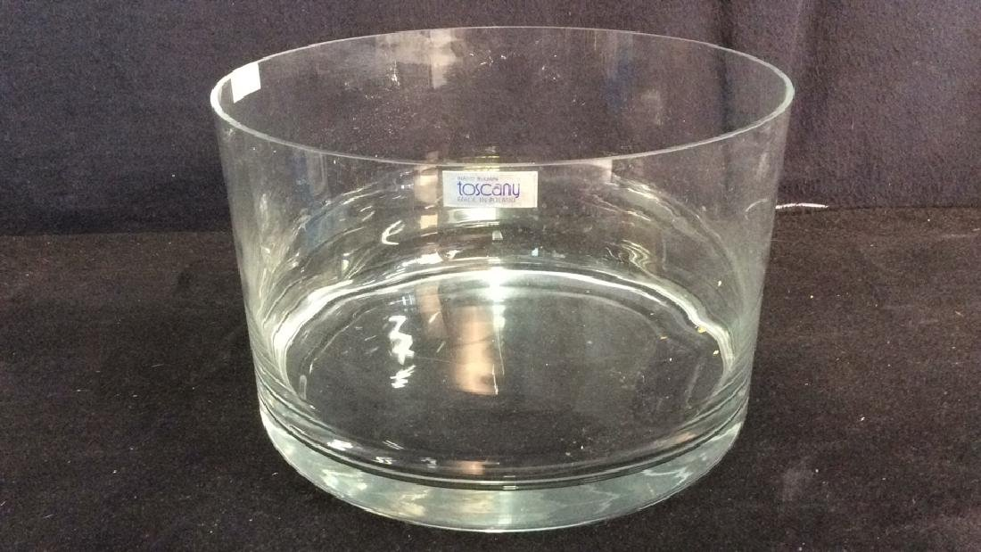 Lot 2 Hand Blown TOSCANY Glass Bowlsor Vases - 2