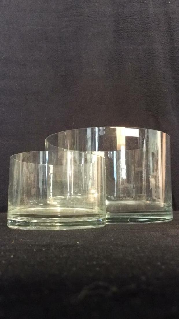 Lot 2 Hand Blown TOSCANY Glass Bowlsor Vases - 5