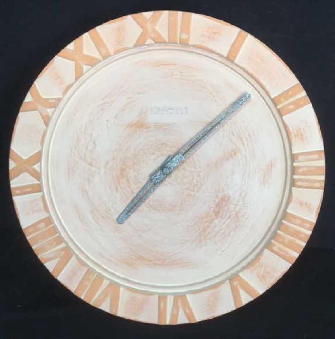 Vintage Canetti Ceramic Wall Clock