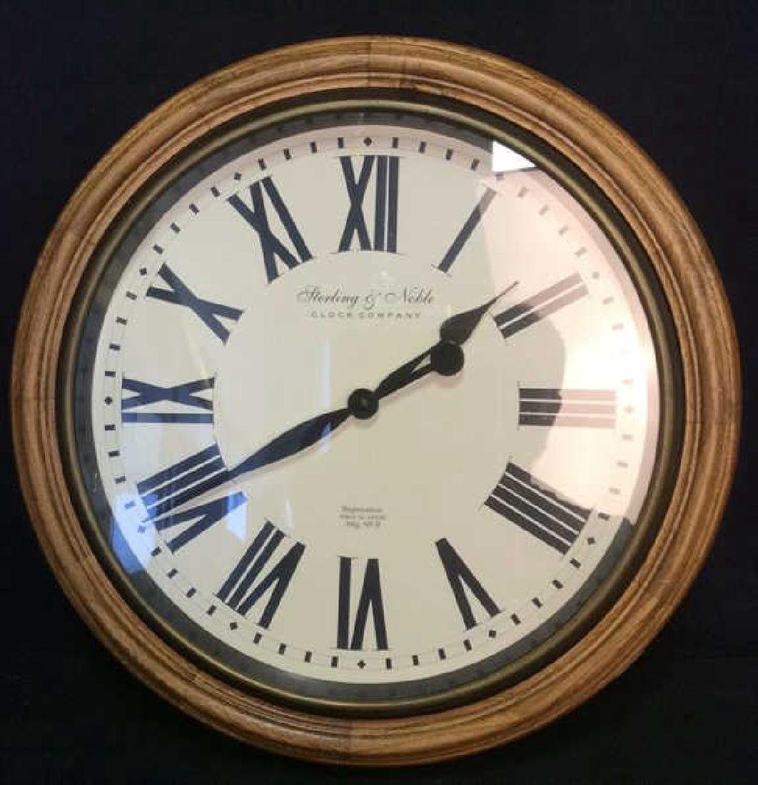 STERLING & NOBLE Roman Numeral Clock