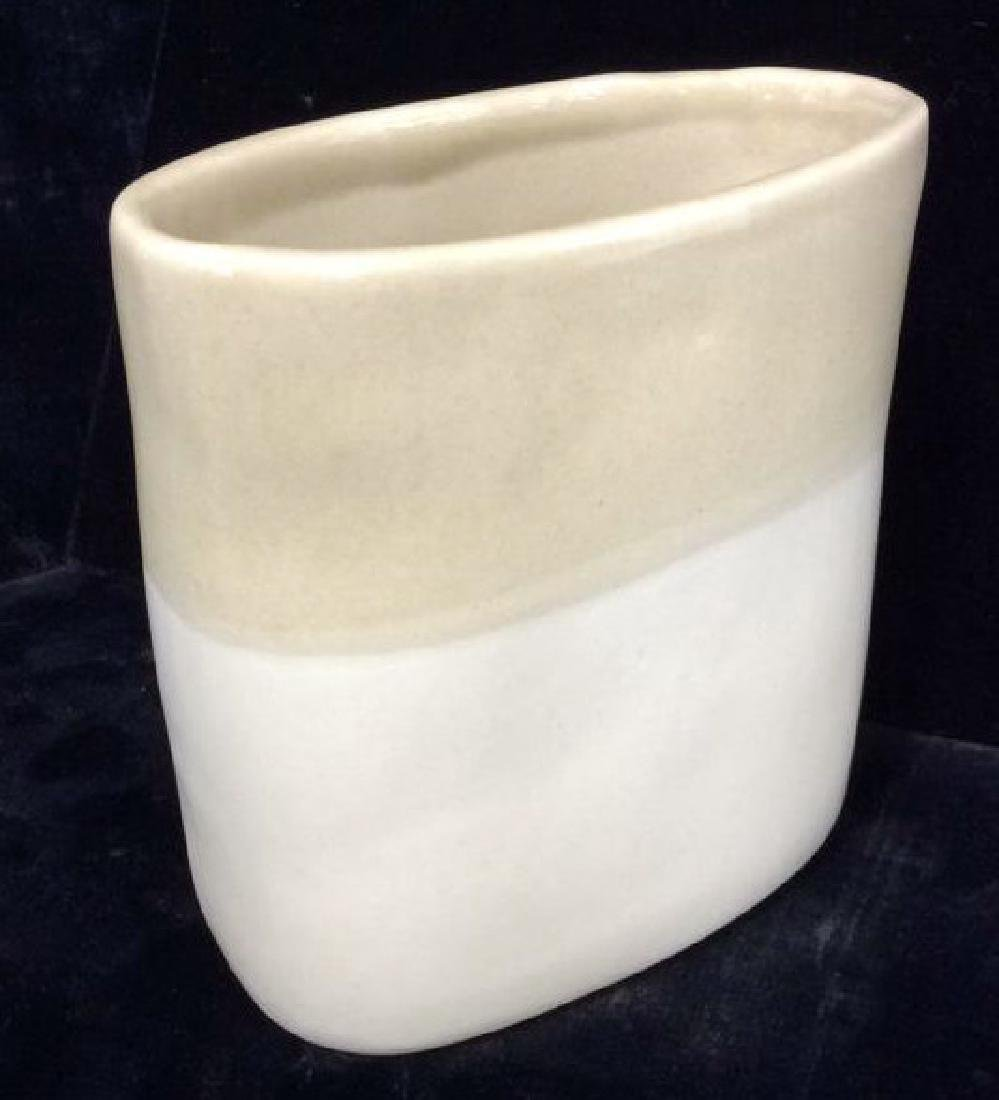 Signed Ceramic Two Toned Vase