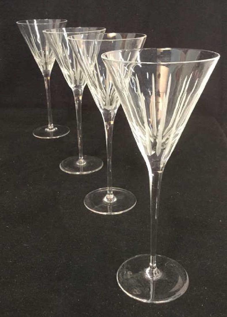 Lot 4 Vintage Crystal Champagne Glasses