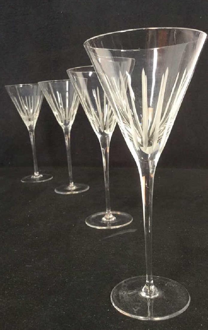 Lot 4 Vintage Crystal Champagne Glasses - 2