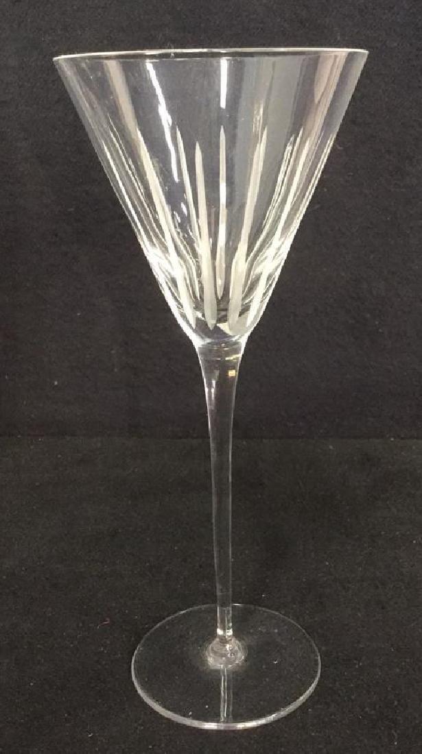 Lot 4 Vintage Crystal Champagne Glasses - 3