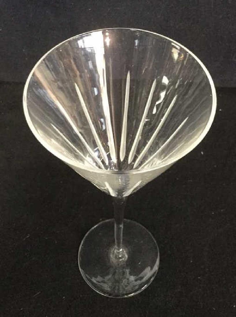 Lot 4 Vintage Crystal Champagne Glasses - 5