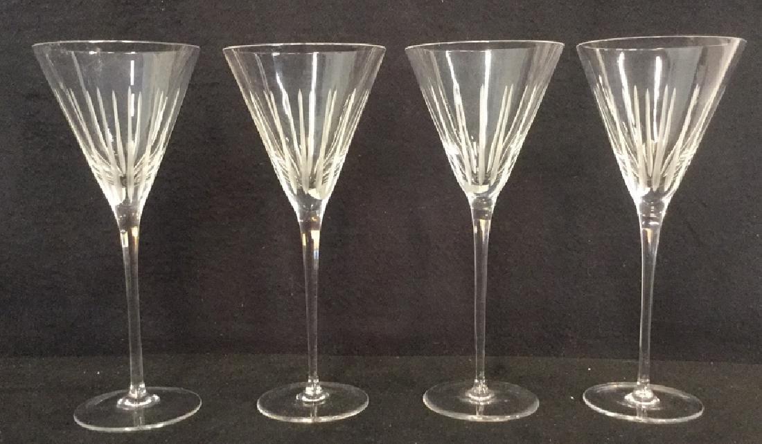 Lot 4 Vintage Crystal Champagne Glasses - 6