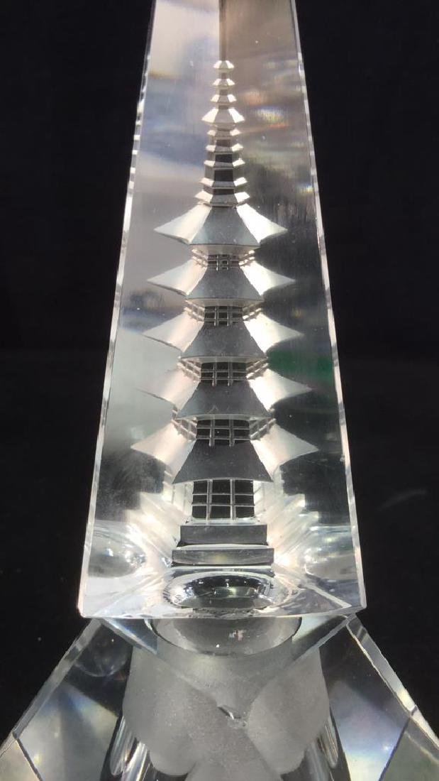 Lot 2 Hand Cut Crystal Perfume Bottle And Stopper - 6