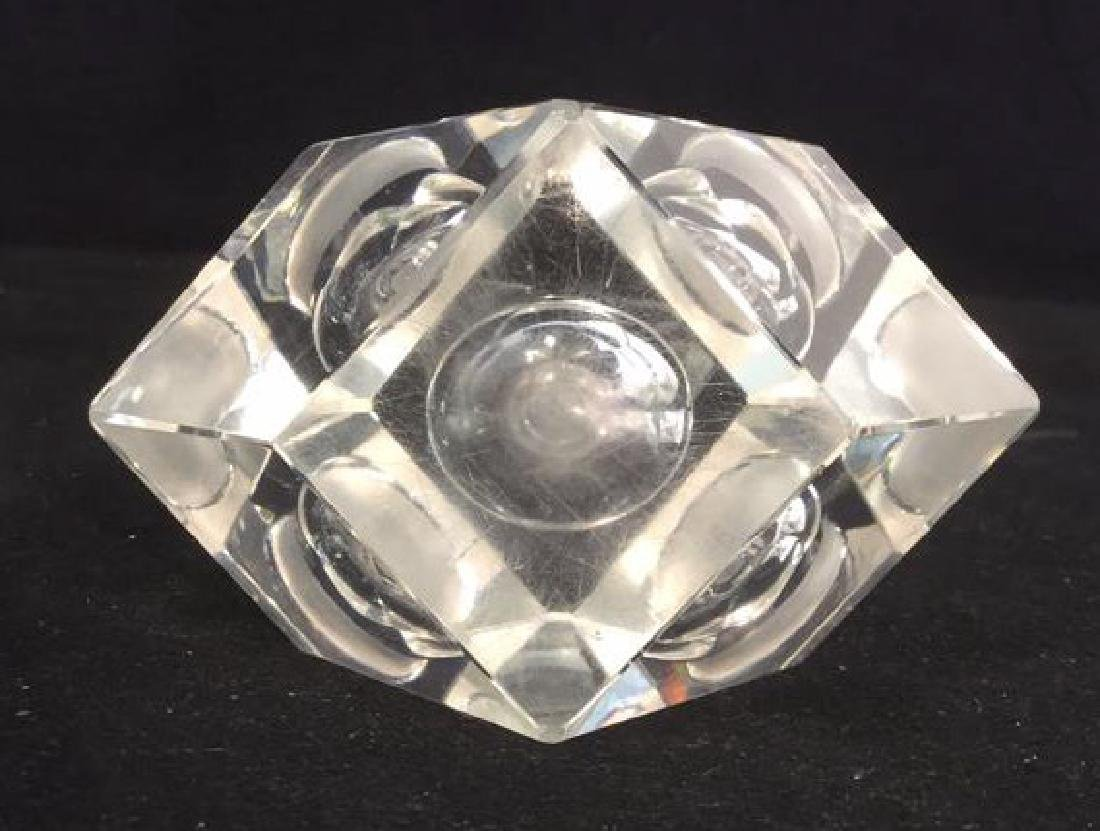 Lot 2 Hand Cut Crystal Perfume Bottle And Stopper - 7