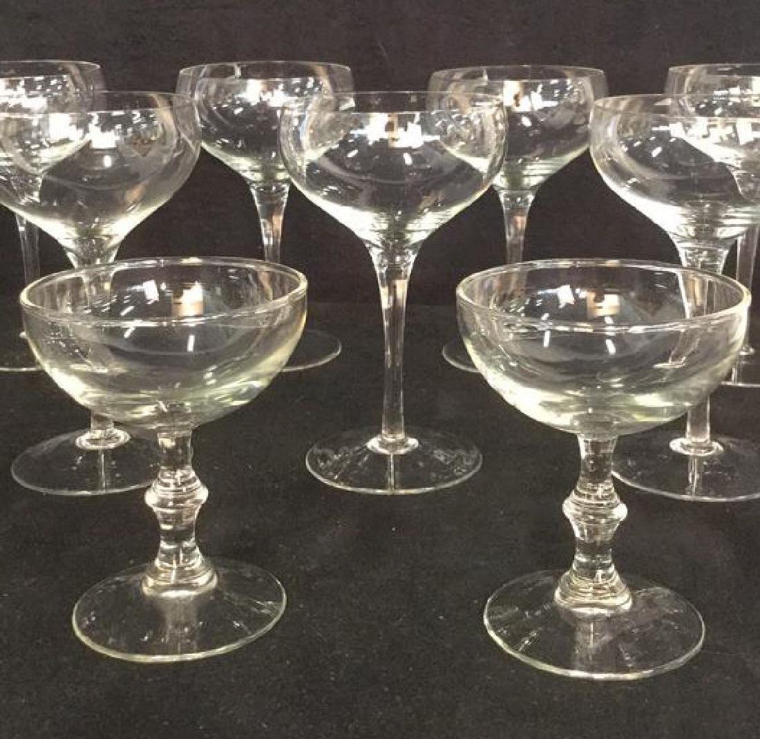 Lot 9 Vintage Champagne Cocktail Glasses