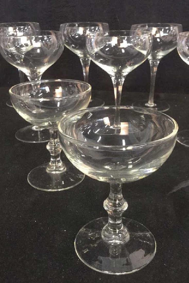 Lot 9 Vintage Champagne Cocktail Glasses - 2