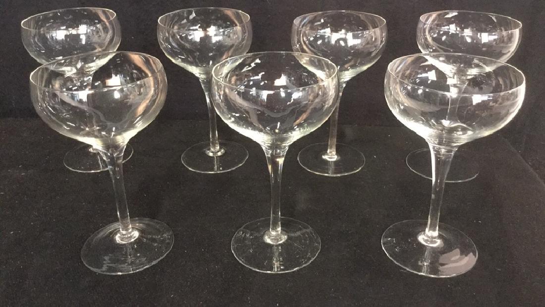Lot 9 Vintage Champagne Cocktail Glasses - 3